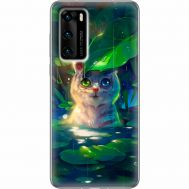 Силиконовый чехол BoxFace Huawei P40 White Tiger Cub (39746-up2452)
