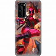 Силиконовый чехол BoxFace Huawei P40 Woman Deadpool (39746-up2453)