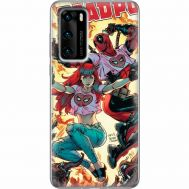 Силиконовый чехол BoxFace Huawei P40 Deadpool and Mary Jane (39746-up2454)