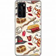 Силиконовый чехол BoxFace Huawei P40 Magic Items (39746-up2455)