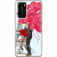 Силиконовый чехол BoxFace Huawei P40 Love in Paris (39746-up2460)