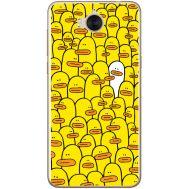 Силиконовый чехол BoxFace Huawei Y5 2017 Yellow Ducklings (30871-up2428)