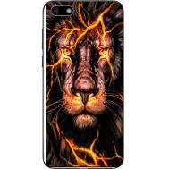 Силиконовый чехол BoxFace Huawei Y5 2018 Fire Lion (33370-up2437)