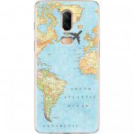 Силиконовый чехол BoxFace OnePlus 6 Карта (33859-up2434)