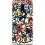 Силиконовый чехол BoxFace OnePlus 7 Anime Stickers (37256-up2458)