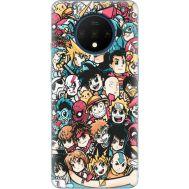 Силиконовый чехол BoxFace OnePlus 7T Anime Stickers (38481-up2458)