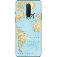 Силиконовый чехол BoxFace OnePlus 8 Карта (39989-up2434)