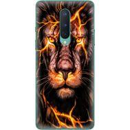 Силиконовый чехол BoxFace OnePlus 8 Fire Lion (39989-up2437)