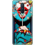 Силиконовый чехол BoxFace OnePlus 8 Girl Pop Art (39989-up2444)