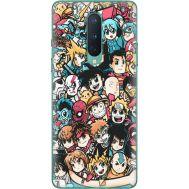 Силиконовый чехол BoxFace OnePlus 8 Anime Stickers (39989-up2458)