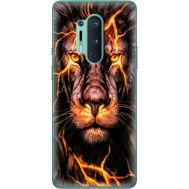 Силиконовый чехол BoxFace OnePlus 8 Pro Fire Lion (39994-up2437)