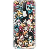 Силиконовый чехол BoxFace OPPO A5 2020 Anime Stickers (38519-up2458)
