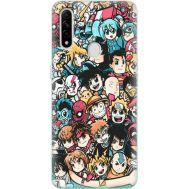 Силиконовый чехол BoxFace OPPO A31 Anime Stickers (39938-up2458)