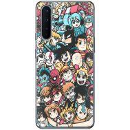 Силиконовый чехол BoxFace OnePlus Nord Anime Stickers (40980-up2458)