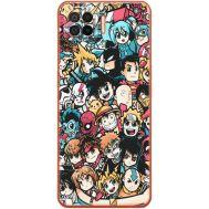 Силиконовый чехол BoxFace OPPO A73 Anime Stickers (41741-up2458)