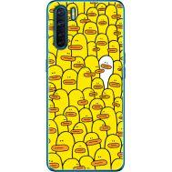 Силиконовый чехол BoxFace OPPO A91 Yellow Ducklings (41576-up2428)