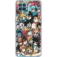 Силиконовый чехол BoxFace OPPO A93 Anime Stickers (41781-up2458)