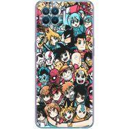 Силиконовый чехол BoxFace OPPO Reno4 Lite Anime Stickers (41780-up2458)
