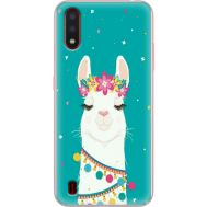 Силиконовый чехол BoxFace Samsung A015 Galaxy A01 Cold Llama (38839-up2435)