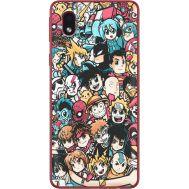 Силиконовый чехол BoxFace Samsung A013 Galaxy A01 Core Anime Stickers (40875-up2458)
