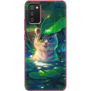 Силиконовый чехол BoxFace Samsung A025 Galaxy A02S White Tiger Cub (41511-up2452)