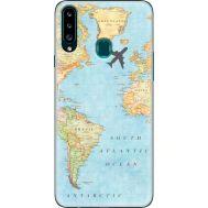 Силиконовый чехол BoxFace Samsung A207 Galaxy A20s Карта (38125-up2434)