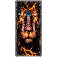 Силиконовый чехол BoxFace Samsung A207 Galaxy A20s Fire Lion (38125-up2437)