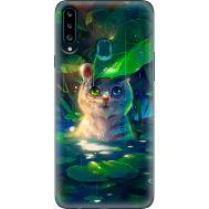 Силиконовый чехол BoxFace Samsung A207 Galaxy A20s White Tiger Cub (38125-up2452)