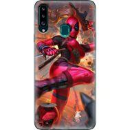 Силиконовый чехол BoxFace Samsung A207 Galaxy A20s Woman Deadpool (38125-up2453)