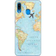 Силиконовый чехол BoxFace Samsung A305 Galaxy A30 Карта (36416-up2434)
