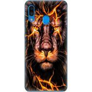 Силиконовый чехол BoxFace Samsung A305 Galaxy A30 Fire Lion (36416-up2437)