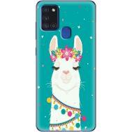 Силиконовый чехол BoxFace Samsung A217 Galaxy A21s Cold Llama (40006-up2435)