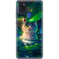 Силиконовый чехол BoxFace Samsung A217 Galaxy A21s White Tiger Cub (40006-up2452)