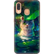 Силиконовый чехол BoxFace Samsung A405 Galaxy A40 White Tiger Cub (36707-up2452)