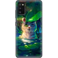 Силиконовый чехол BoxFace Samsung A415 Galaxy A41 White Tiger Cub (39755-up2452)