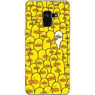 Силиконовый чехол BoxFace Samsung A530 Galaxy A8 (2018) Yellow Ducklings (32657-up2428)