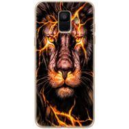 Силиконовый чехол BoxFace Samsung A600 Galaxy A6 2018 Fire Lion (33376-up2437)