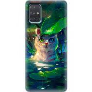 Силиконовый чехол BoxFace Samsung A715 Galaxy A71 White Tiger Cub (38850-up2452)