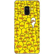 Силиконовый чехол BoxFace Samsung A730 Galaxy A8 Plus (2018) Yellow Ducklings (32658-up2428)