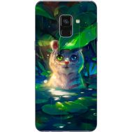 Силиконовый чехол BoxFace Samsung A730 Galaxy A8 Plus (2018) White Tiger Cub (32658-up2452)