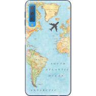 Силиконовый чехол BoxFace Samsung A750 Galaxy A7 2018 Карта (35481-up2434)