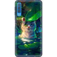 Силиконовый чехол BoxFace Samsung A750 Galaxy A7 2018 White Tiger Cub (35481-up2452)