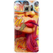 Силиконовый чехол BoxFace Samsung G925 Galaxy S6 Edge Yellow Girl Pop Art (26304-up2442)