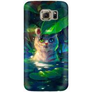 Силиконовый чехол BoxFace Samsung G925 Galaxy S6 Edge White Tiger Cub (26304-up2452)