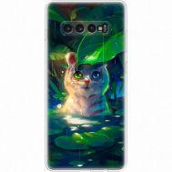 Силиконовый чехол BoxFace Samsung G975 Galaxy S10 Plus White Tiger Cub (35854-up2452)
