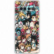 Силиконовый чехол BoxFace Samsung G975 Galaxy S10 Plus Anime Stickers (35854-up2458)
