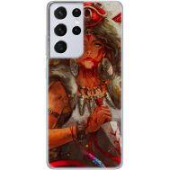 Силиконовый чехол BoxFace Samsung G998 Galaxy S21 Ultra Принцесса Мононоке (41719-up2451)