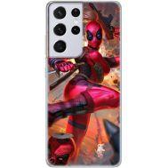 Силиконовый чехол BoxFace Samsung G998 Galaxy S21 Ultra Woman Deadpool (41719-up2453)