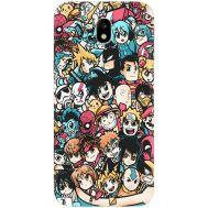 Силиконовый чехол BoxFace Samsung J330 Galaxy J3 2017 Anime Stickers (30577-up2458)