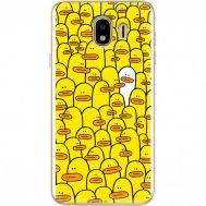 Силиконовый чехол BoxFace Samsung J400 Galaxy J4 2018 Yellow Ducklings (33860-up2428)